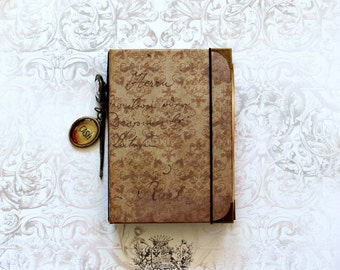 Winton Rose Junk Journal Travelers Notebook Mothers Day Birthday Gifts Blank Notebook Vintage Style Handmade Journal Cash Notebook