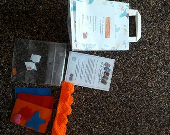 Crown decorating gift bag-Koningsdag Crown-King Games-decorate your own Crown Crown set-arts and crafts-Orange Crown