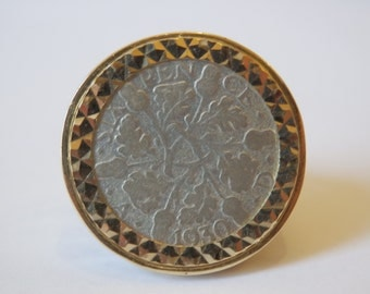 Silver Sixpence 6d Ring