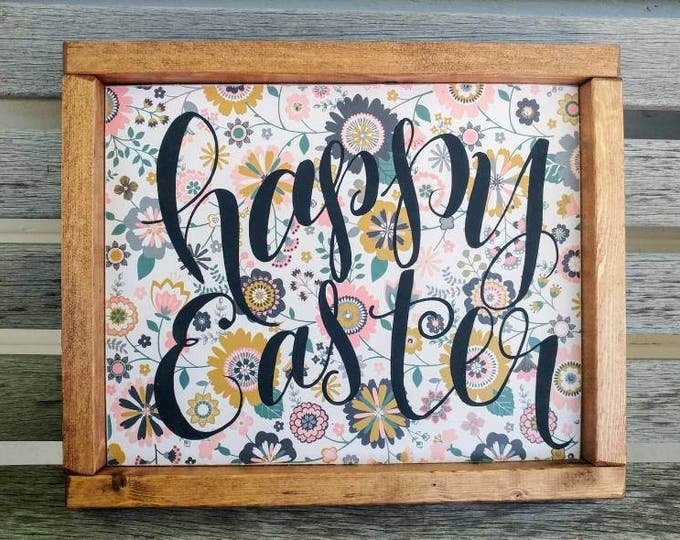 Happy Easter Wooden Sign