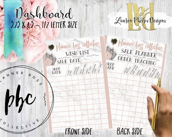 Planner Dashboard | Planner Boss Collective | Sale Planner |  Order Tracking | Shop Tracking | PBC Sale | PBC Spring Sale