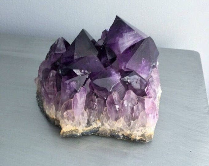 High Quality Amethyst Crystal charged w/ Reiki, Home Decor