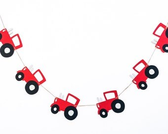 Tractor Garland | Tractor Banner | Tractor Decor | Tractor Party | Tractor Birthday | Photo Prop | Baby Shower