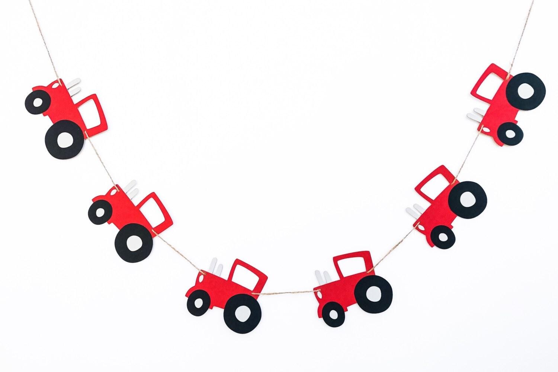 tractor garland tractor banner tractor decor tractor. Black Bedroom Furniture Sets. Home Design Ideas