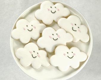 Cloud Cookies -Smiley Face-Sugar Cookies