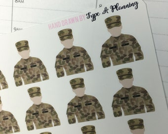 Military BDUs Planner Stickers  | military uniform stickers, Personal Planner Stickers, work stickers, soldier
