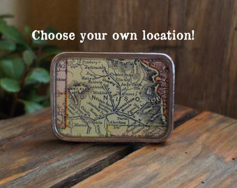 Custom Map Belt Buckle/ Colorado/ Map Jewelry/ Unique Gifts/ Map Accessories/ Belt Buckles