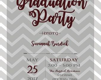 Aggie Graduation Party Invitations