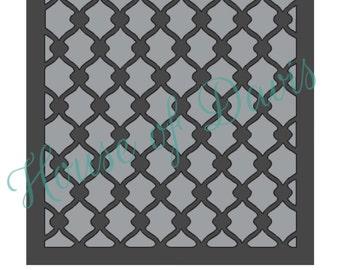 Chainlink Stencil (Style 2) - 12x12