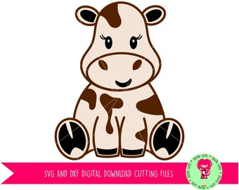 Cow SVG / DXF Cutting Files for Cricut Design Space / Silhouette Studio, Digital Download, Commercial Use Ok