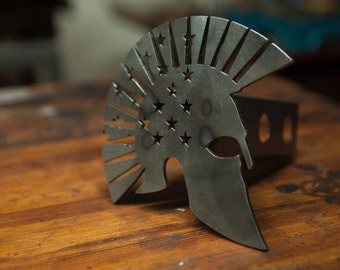 American Warrior Trailer Hitch Cover - Raw/Unfinished