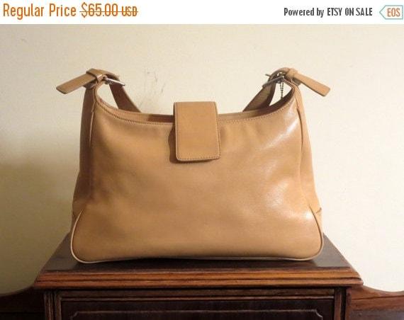 Football Days Sale Coach Hamptons Camel Leather Hobo Shoulder Bag Style No 7783 - VGC