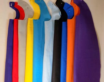 20  Plain felt capes to decorate at your party, many colors, superhero capes