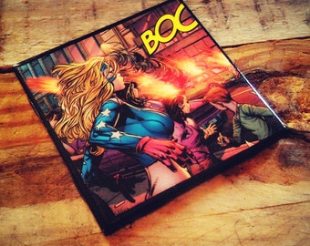 Stargirl, DC comics, custom, comic book, ceramic tile, drink coaster