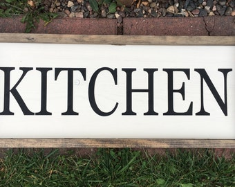 Kitchen Framed Wood Sign - Rustic Home Decor - Housewarming Gift - Framed Home Decor - Farmhouse Decor - Farmhouse Wood Sign