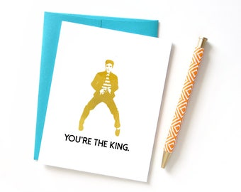 Funny Father's Day Card, Elvis Fathers Day Card, Funny Birthday Card for Dad, Card from Kid, Congratulations Card