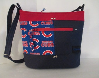 Chicago Cubs Navy/Red Purse