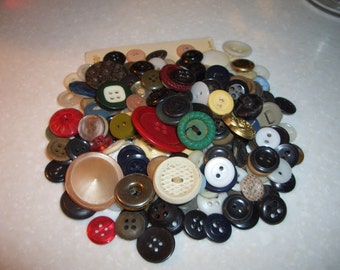A Collection of Over 200 Buttons...Variety of Sizes, Shapes, and Colors...#3