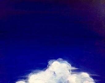 Cloud painting. Modern art. Cloud art. Abstract home decor. Fine art original abstract. Landscape painting. Contemporary art. trending art.