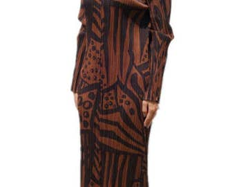 AMAZING!vintage Art Issey Miyake Pleats Please Dress