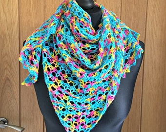 Lace shawl, triangle scarf, crochet lace scarf, luxury crochet scarf, luxury shawl, crochet lace wrap, wedding, cover up, shoulder wrap