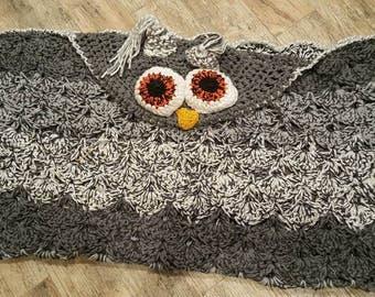 Hooded Owl Afghan