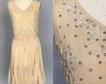 Beaded authentic 1920s flapper dress