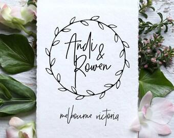 Wedding Monogram, Custom Logo Design | WL--15 | DIY Digital Wedding Logo | Save the Date | Wedding Stationery | Printable, vine, floral