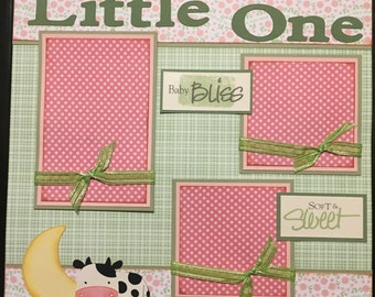 LITTLE ONE baby Premade 12x12 scrapbook page