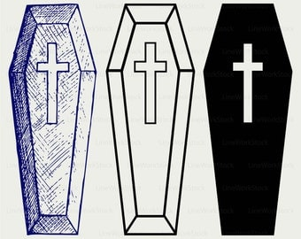 Coffin Clipart Etsy