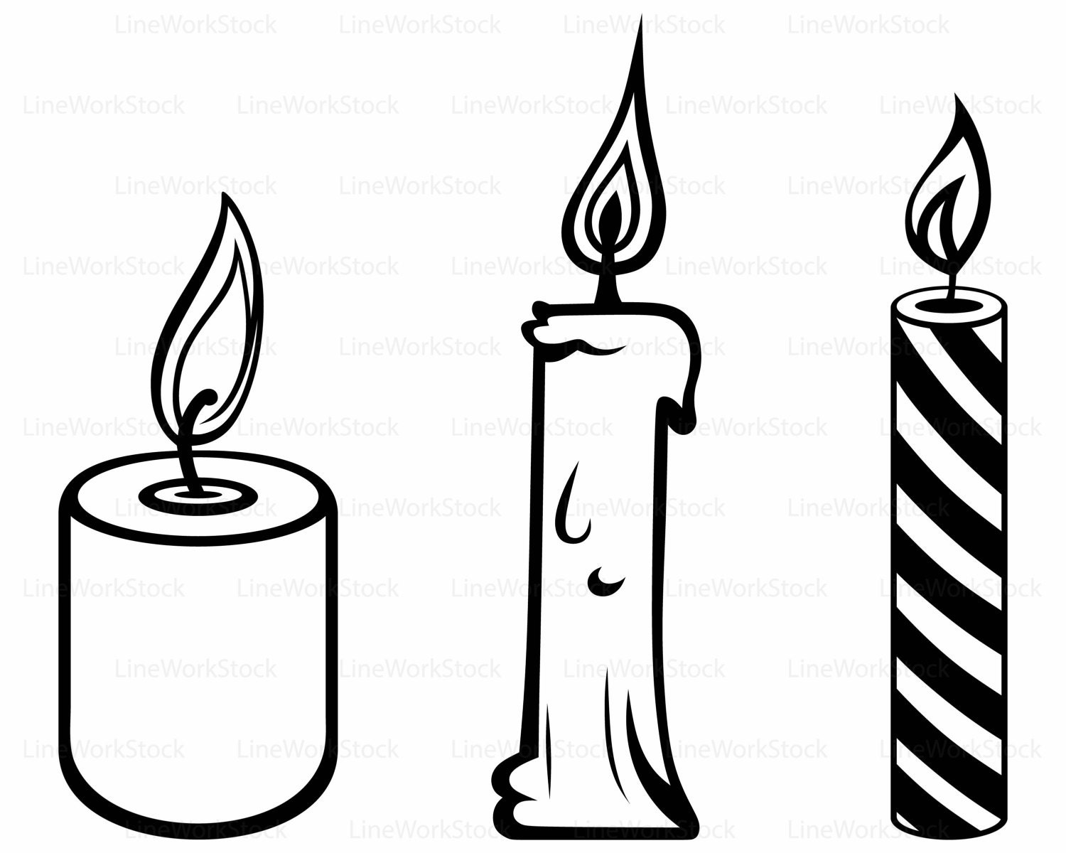 Candles svg,clipart,candle svg,candles silhouette,candle cricut ... for Candle Clip Art Black And White  587fsj