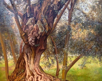 Landscape Olive Tree | Classic Painting | Canvas Wall Art | Original Oil Painting | Landscape Painting | Handmade Painting Realism