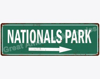Nationals Park Vintage Look Reproduction Metal Sign 6x18 6180582
