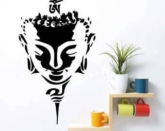 Buddha Head Wall Art Quote Vinyl Decal Sticker Mural Bedroom Decoration  Wedding Birthday Anniversary Gift Home