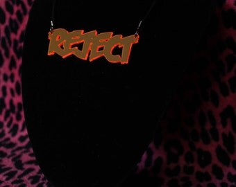 Acrylic Reject necklace