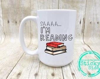 Reading Mug | Reading Teacher Gift | Bookworm Gift | Book Coffee Mug | Reading Coffee Mug | Book Lover Gift | Teacher Appriciation Gift