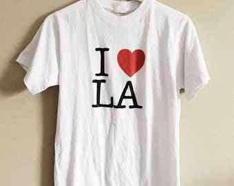 White 'I Love/Heart LA' Tshirt