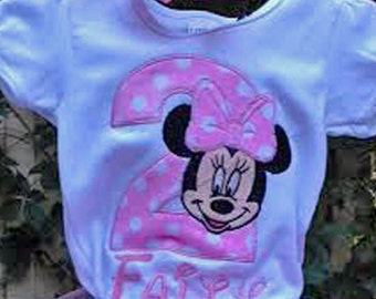 Pink Minnie Mouse 2nd Birthday Shirt Pink Minnie Mouse Birthday Shirt Minnie Mouse Personalized Birthday Shirt 2nd Birthday Shirt