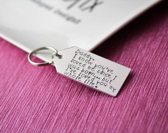 Keyring for dad, daddy, father's day keyring, gift