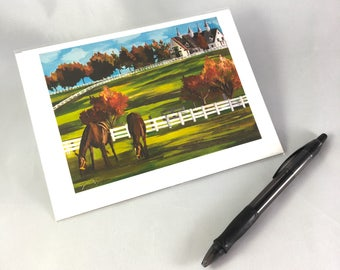 2016 Kentucky Horse Farm Greeting Card