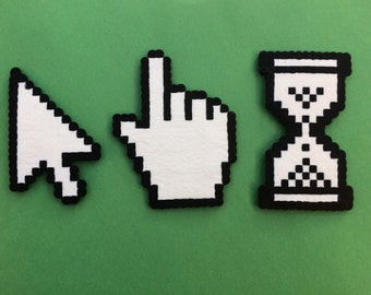 Free Shipping! Perler Bead Computer Cursors Magnets