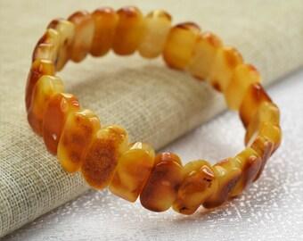 Amber bracelet, baltic amber, Men and Women Amber Bracelet. Adult Baltic Amber Bracelet, Men's Amber Bracelet, Stretch Bracelet