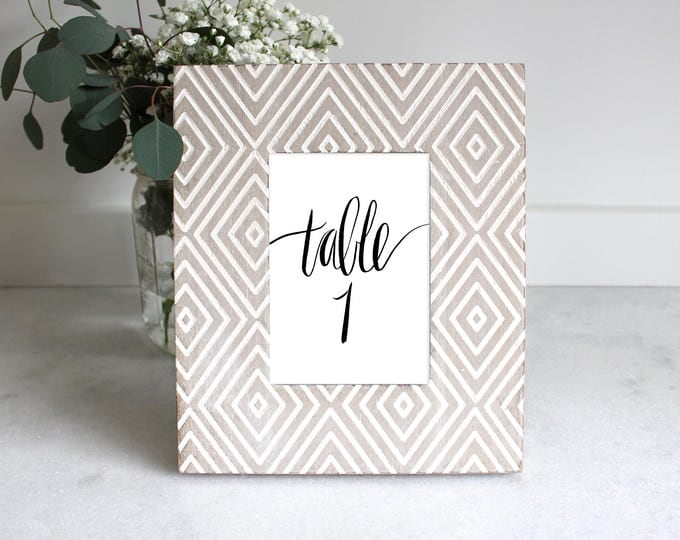 PRINTABLE Sign | Table Numbers