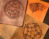 Winter is Coming - Fantasy Inspired Leather Keelindori Travelers Notebook