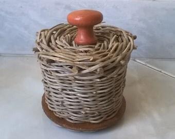 Jar jar wedding favor for home Wicker handmade centerpieces