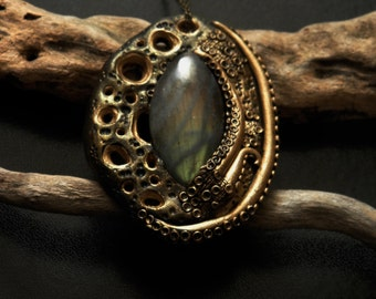 Dark Sea Necklace with labradorite