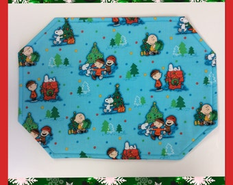Peanuts Placemats Christmas Reversible / set of 4