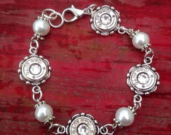 Bullet and Pearl Bracelet