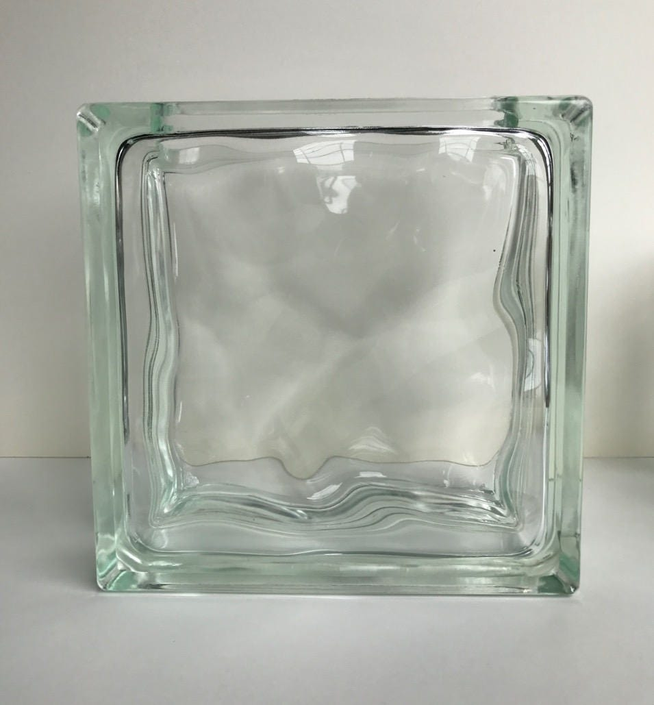 One large vintage glass block flower vase mcm mid century modern one large vintage glass block flower vase mcm mid century modern art deco 12 different reviewsmspy