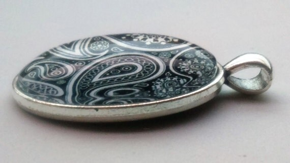 glass tile pendant mandala pendant talavera jewellery
